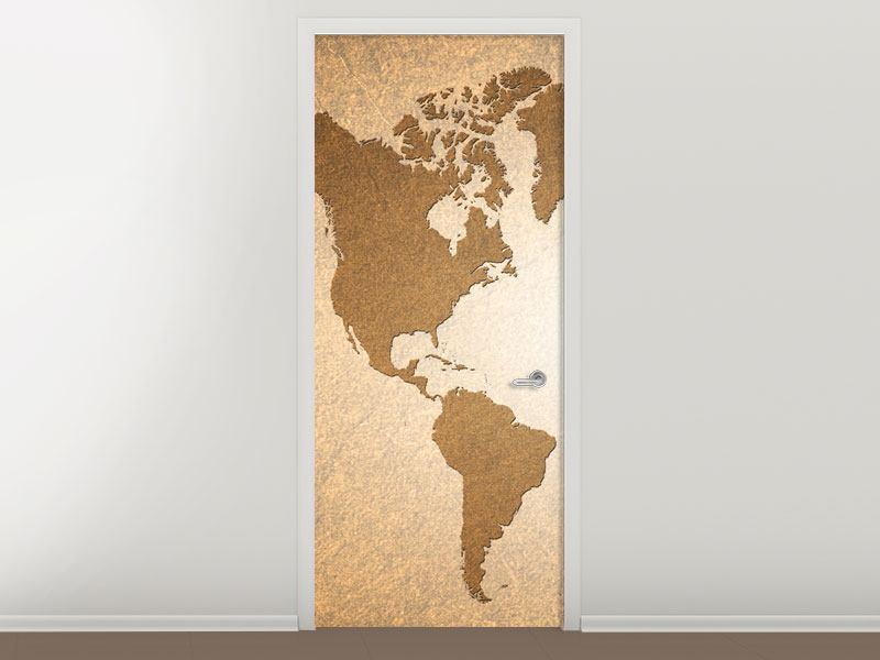 Türtapete Karte der Welt in Vintage