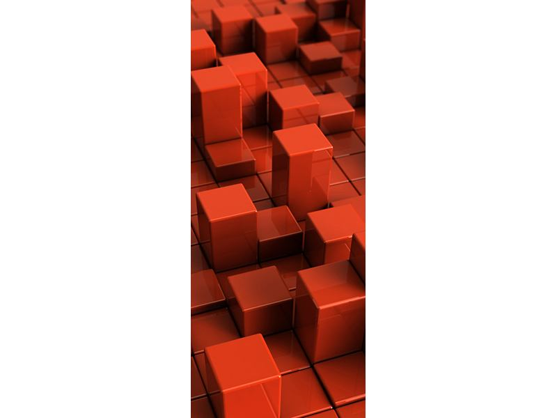 Türtapete 3D-Rechtkant