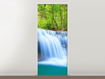 Türtapete Wasserfall Si Nakharin