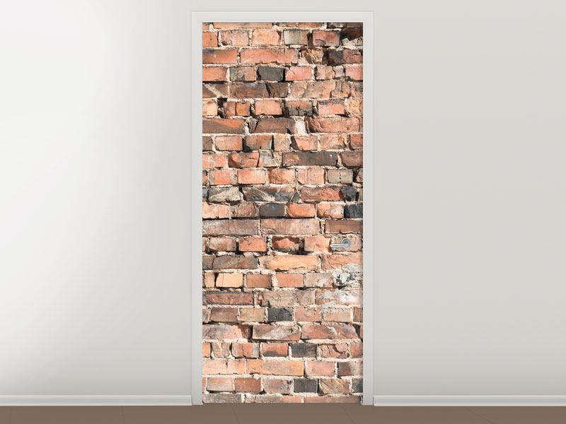 Türtapete Alte Backsteinmauer