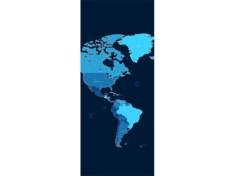 Türtapete Weltkarte