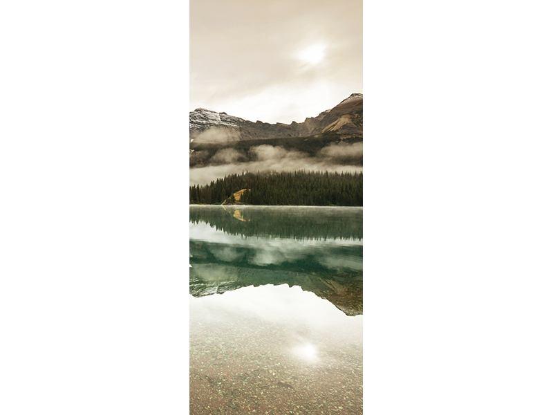 Türtapete Spiegelung im Glacier Nationalpark