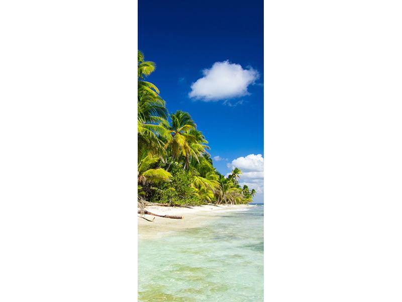 Türtapete Die einsame Insel