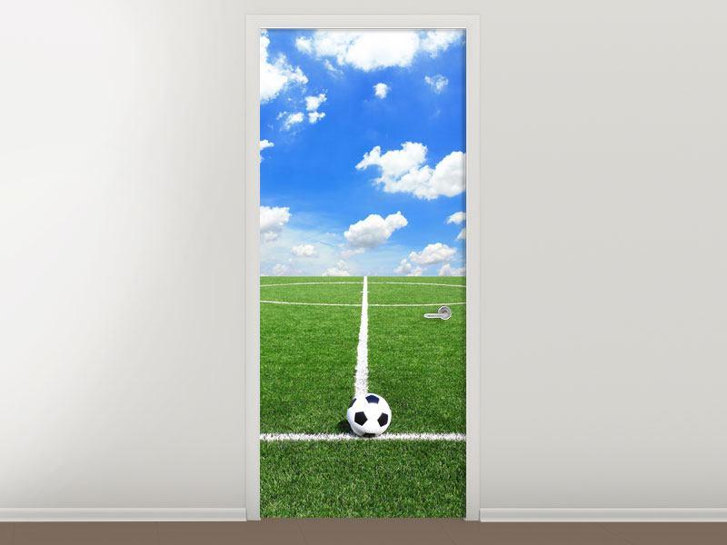 Türtapete Fussballfeld