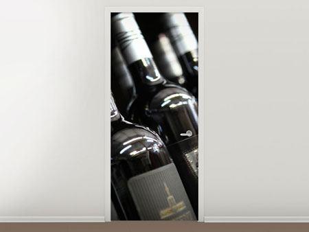 Türtapete Flaschenweine