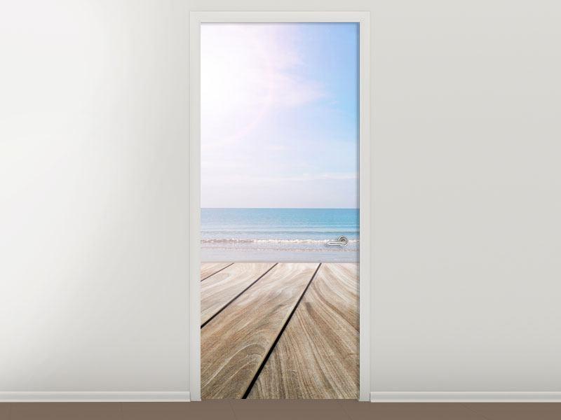 Türtapete Das schöne Strandhaus