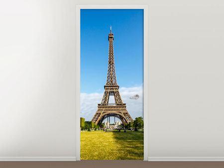 Türtapete Der Eiffelturm in Paris