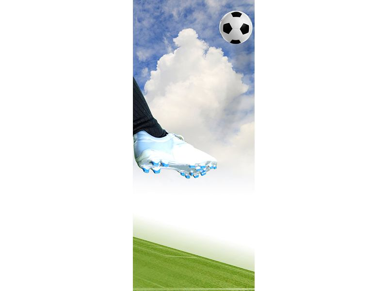 Türtapete Fussball-Kicker