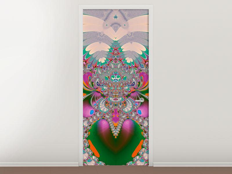 Türtapete Fraktal Design