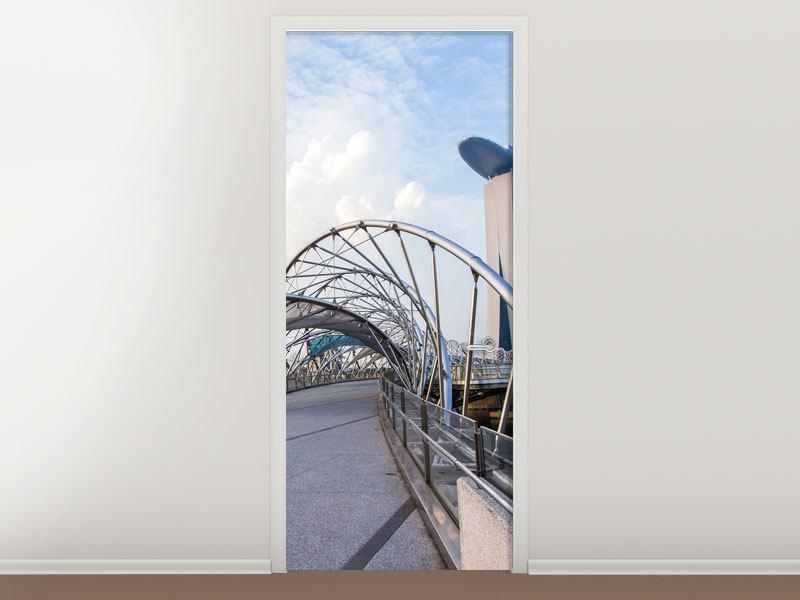 Türtapete Helix-Brücke