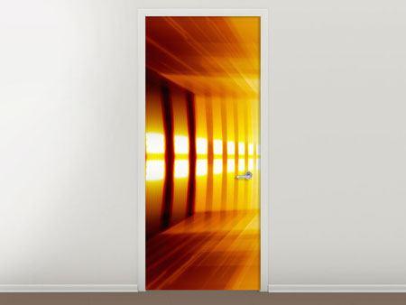 Türtapete Abstrakter Goldener Raum