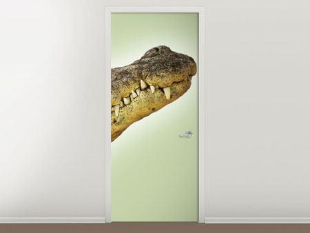 Türtapete Close Up Alligator