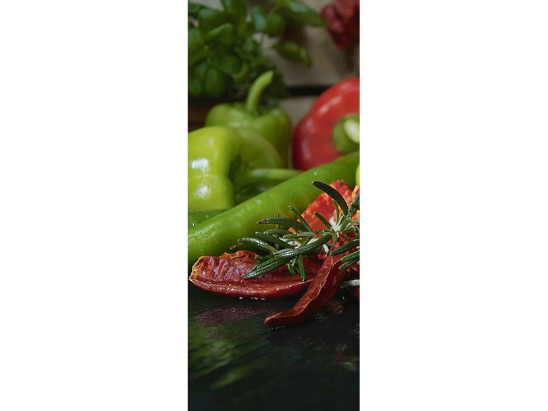 Türtapete Mediterranes Gemüse