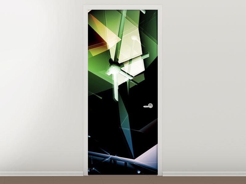 Türtapete 3D-Polygon