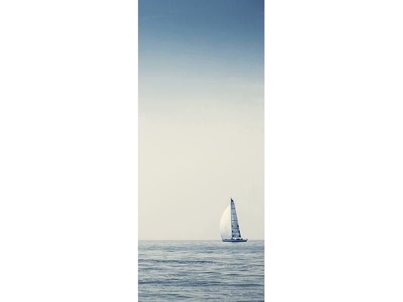Türtapete Segelboot