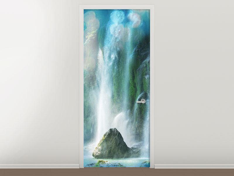 Türtapete Im Wasserfall