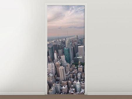 Türtapete Skyline Blick über Manhattan