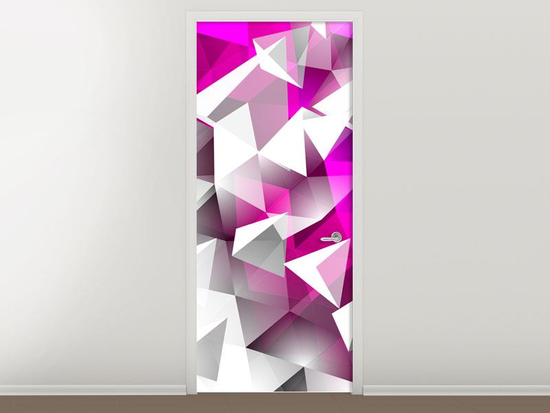 Türtapete 3D-Kristalle Pink