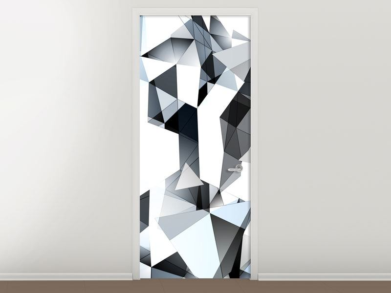 Türtapete 3D-Kristalle
