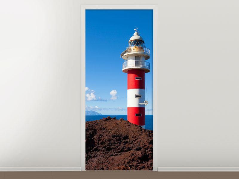 Türtapete Leuchtturm in Punta Teno