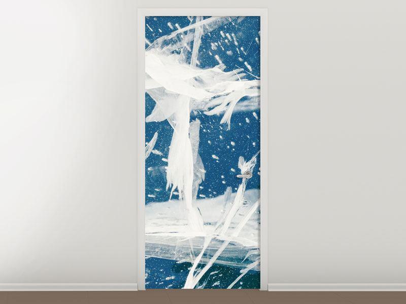 Türtapete Eiskristalle