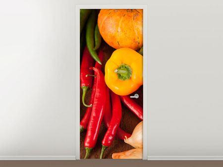 Türtapete Gemüsefrische