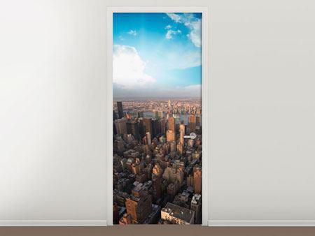 Türtapete Skyline Über den Dächern von Manhattan