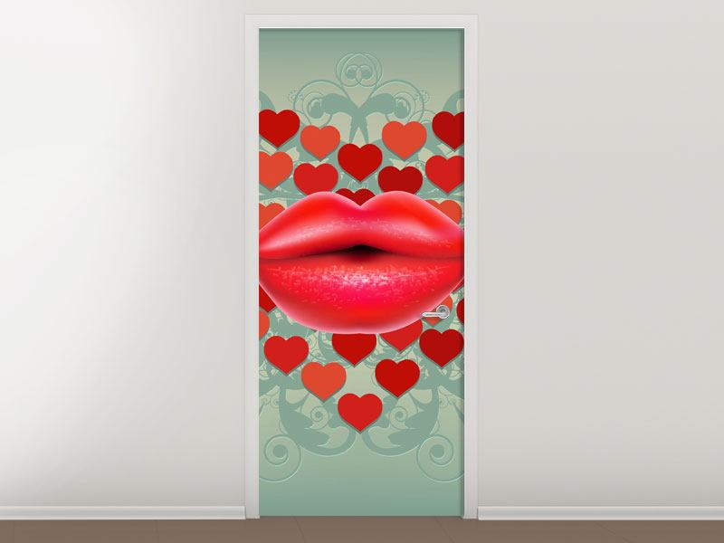 Türtapete Rote Lippen soll man küssen