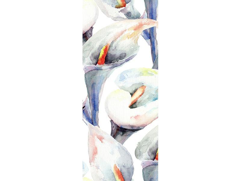 Türtapete Lilien Aquarell