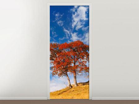Türtapete Der Herbstbaum