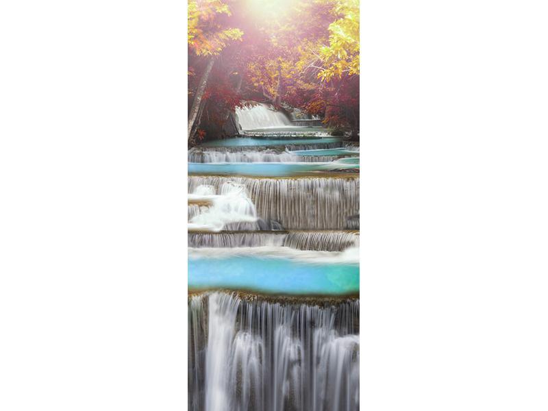 Türtapete Huay Mae Khamin Wasserfall