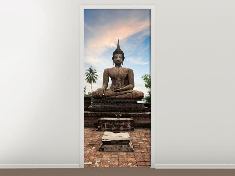 Türtapete Buddha Statue