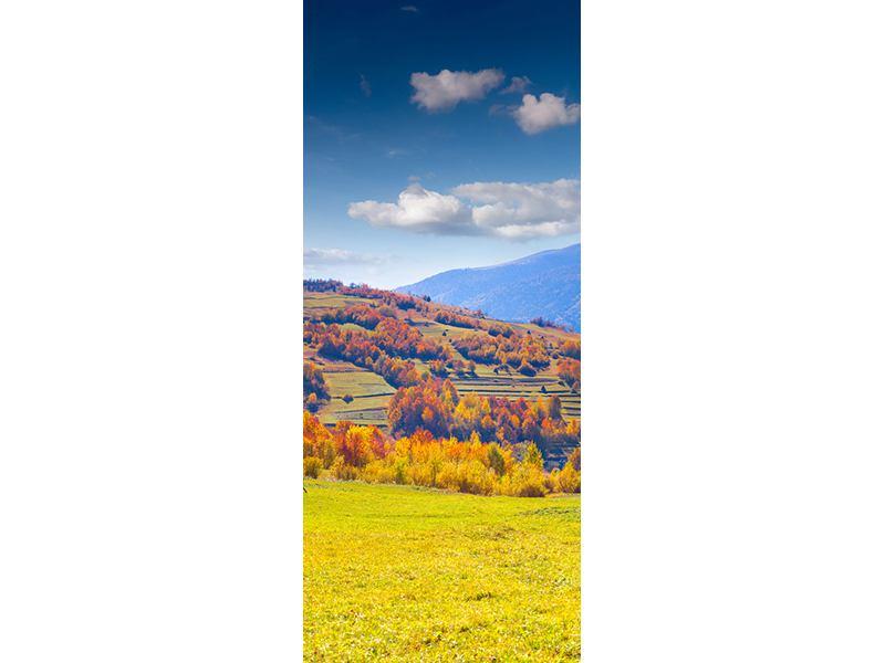 Türtapete Herbstliche Berglandschaft