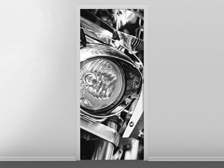 Türtapete Motorrad Close Up