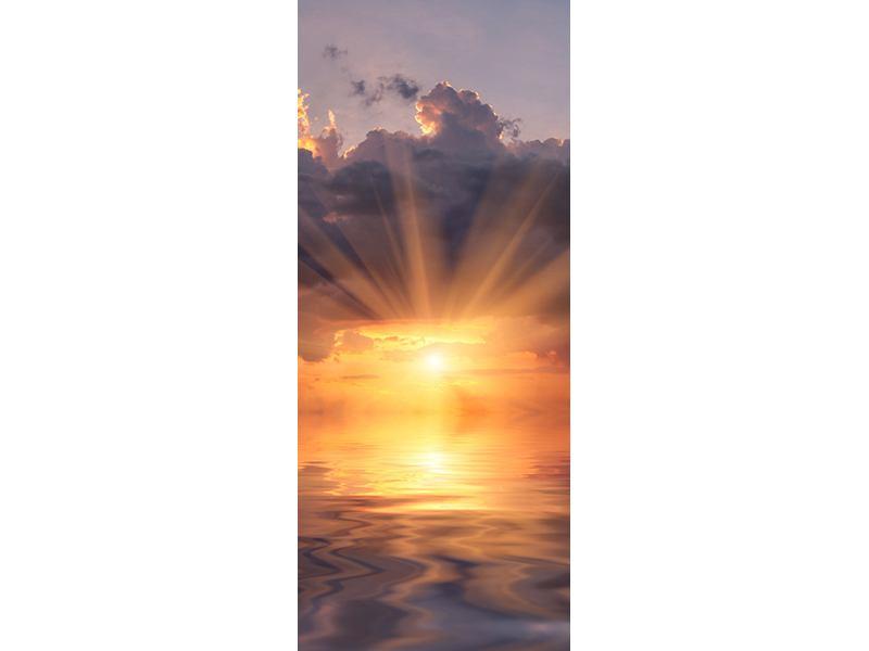 Türtapete Packender Sonnenuntergang