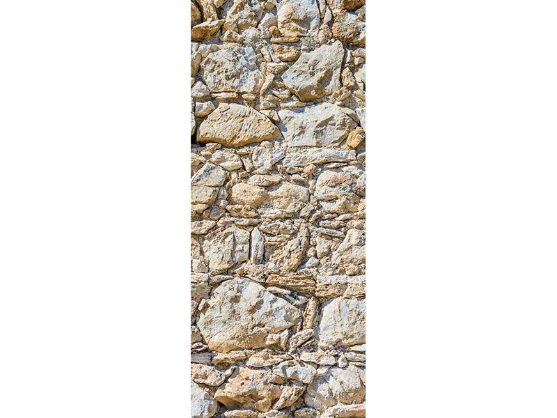 Türtapete Sandsteinmauer