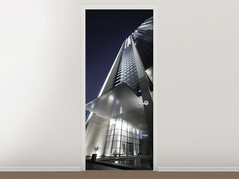 Türtapete Wolkenkratzer in Dubai