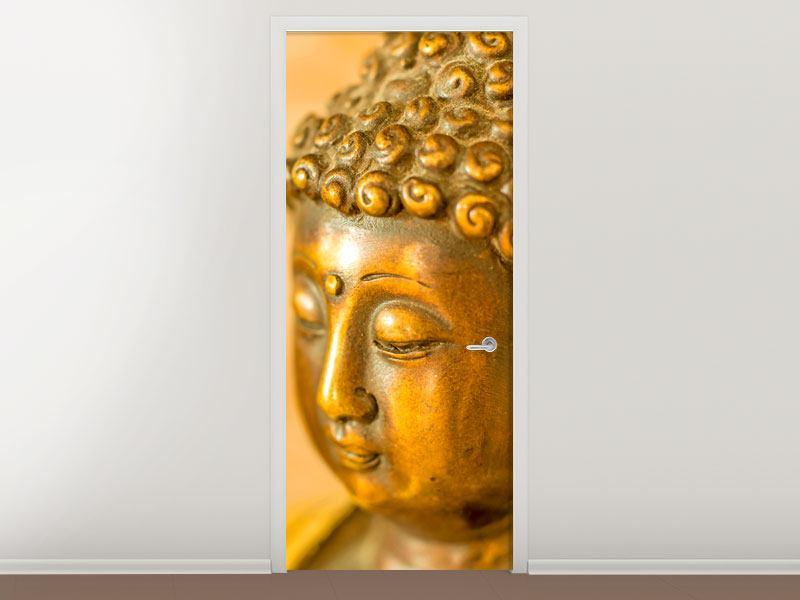 Türtapete Buddha Kopf