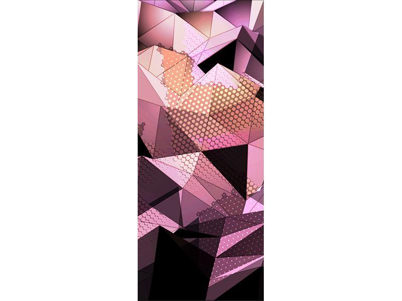 Türtapete 3D-Kristallstruktur