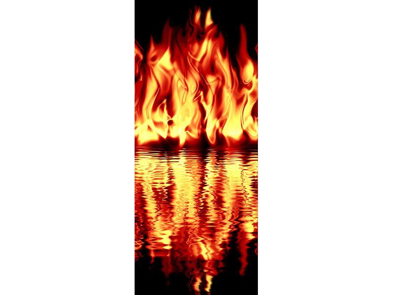 Türtapete Feuerwasser