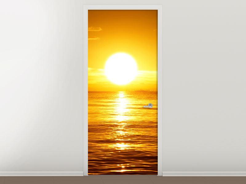 Türtapete Traumhafter Sonnenuntergang