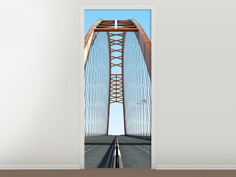 Türtapete Brückenpanorama