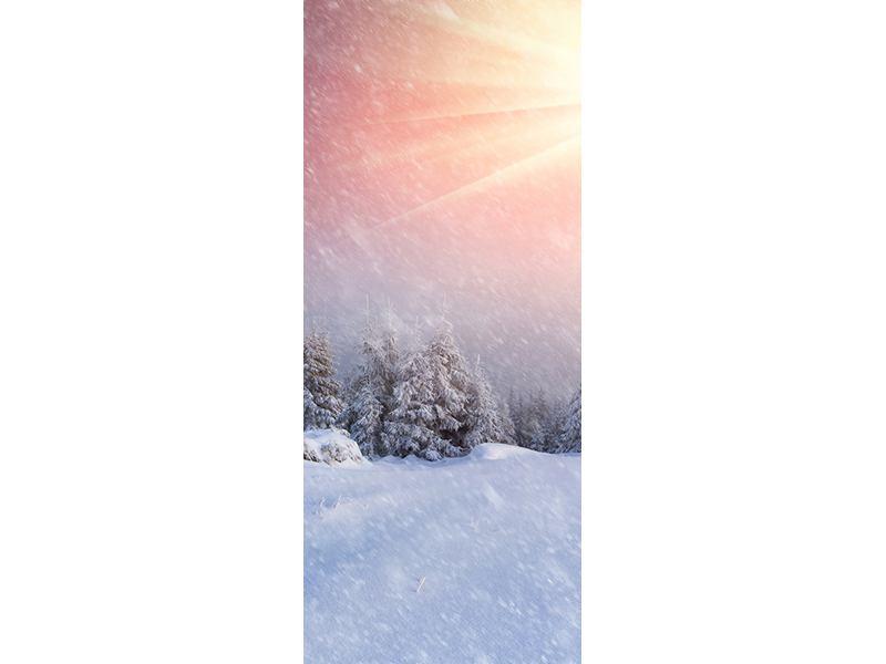 Türtapete Mystischer Schneesturm