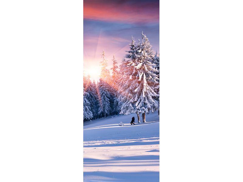 Türtapete Winterlandschaft