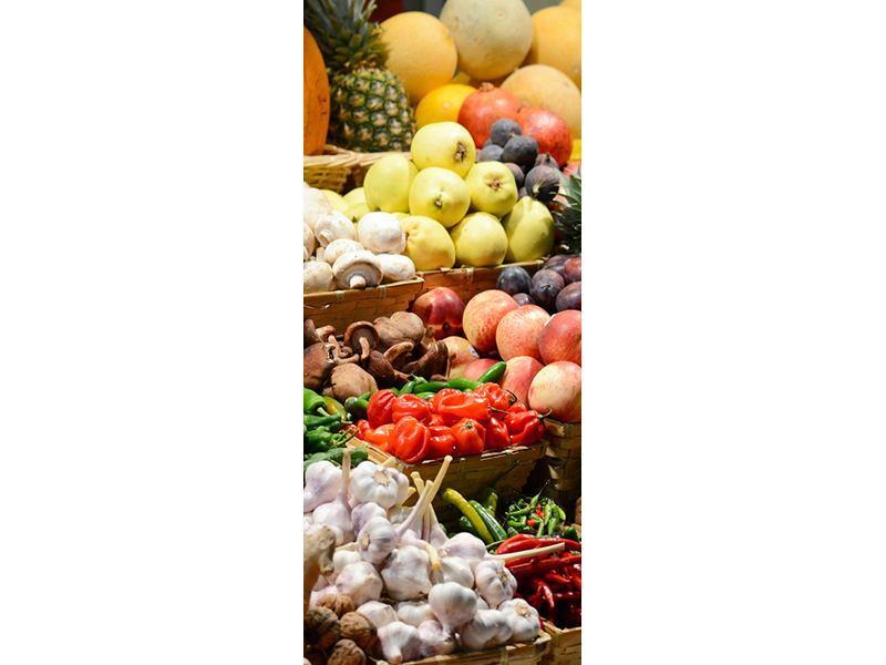 Türtapete Obstmarkt