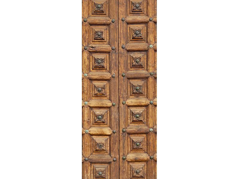 Türtapete Antike Holztür