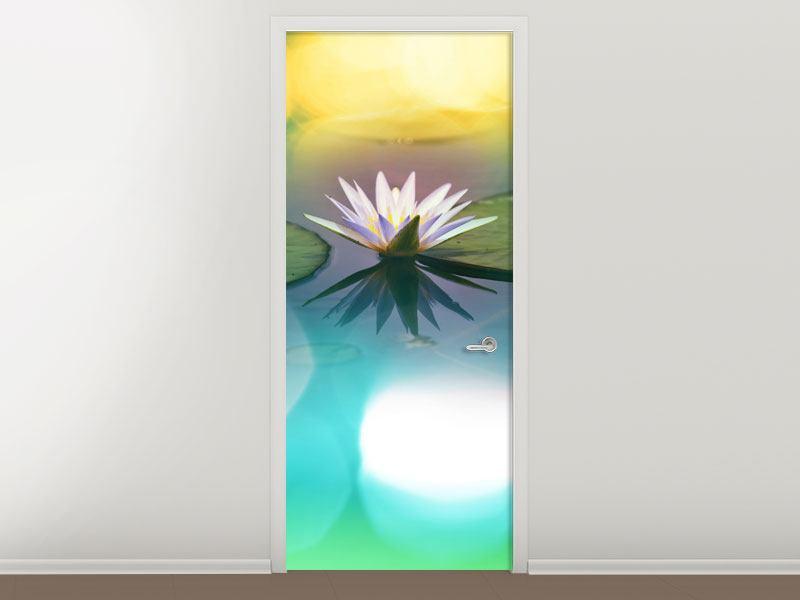 Türtapete Lotus-Spiegelung