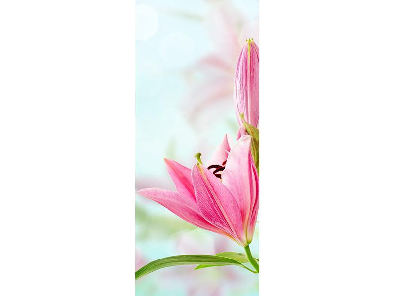 Türtapete Romantische Lilien