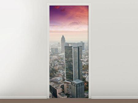 Türtapete Skyline Penthouse in New York