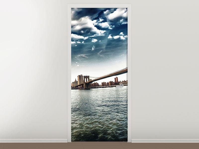 Türtapete Brooklyn Bridge From The Other Side